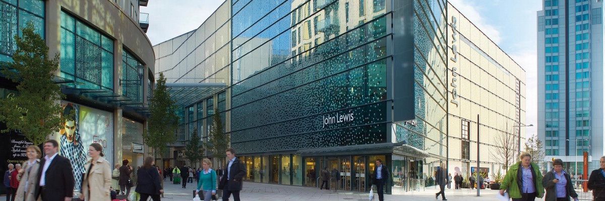 John Lewis entrance to St David's in Cardiff